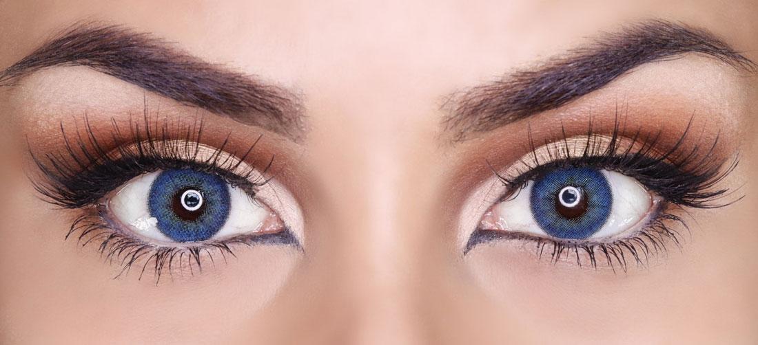 Smokey Eyes adatto alle lenti a contatto colorate