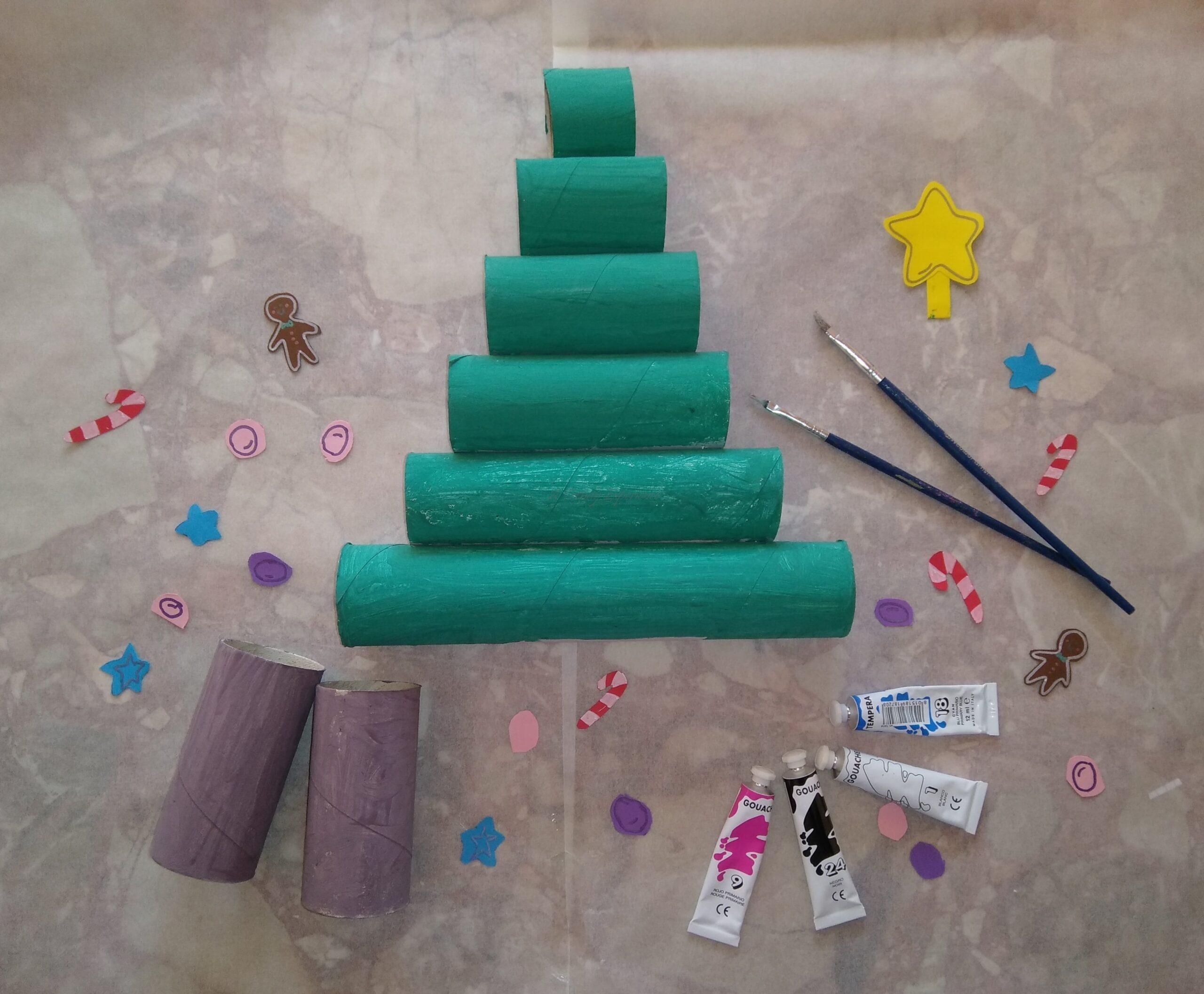 tutorial Albero Di Natale Con Rotolo Di Carta Fai Da Te