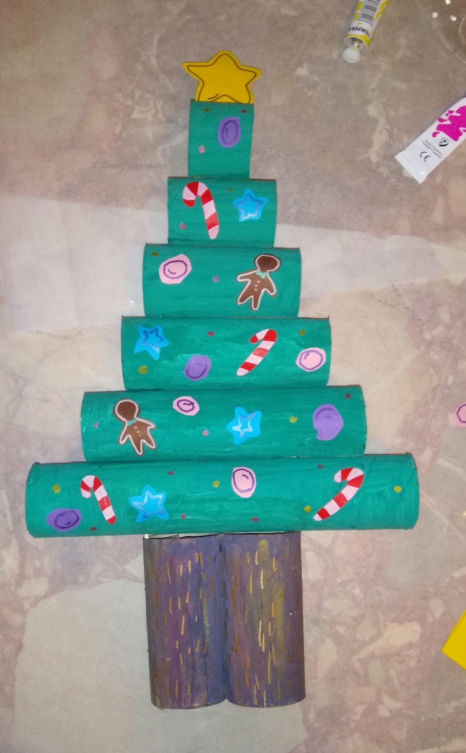 idea Albero Di Natale Con Rotolo Di Carta Fai Da Te
