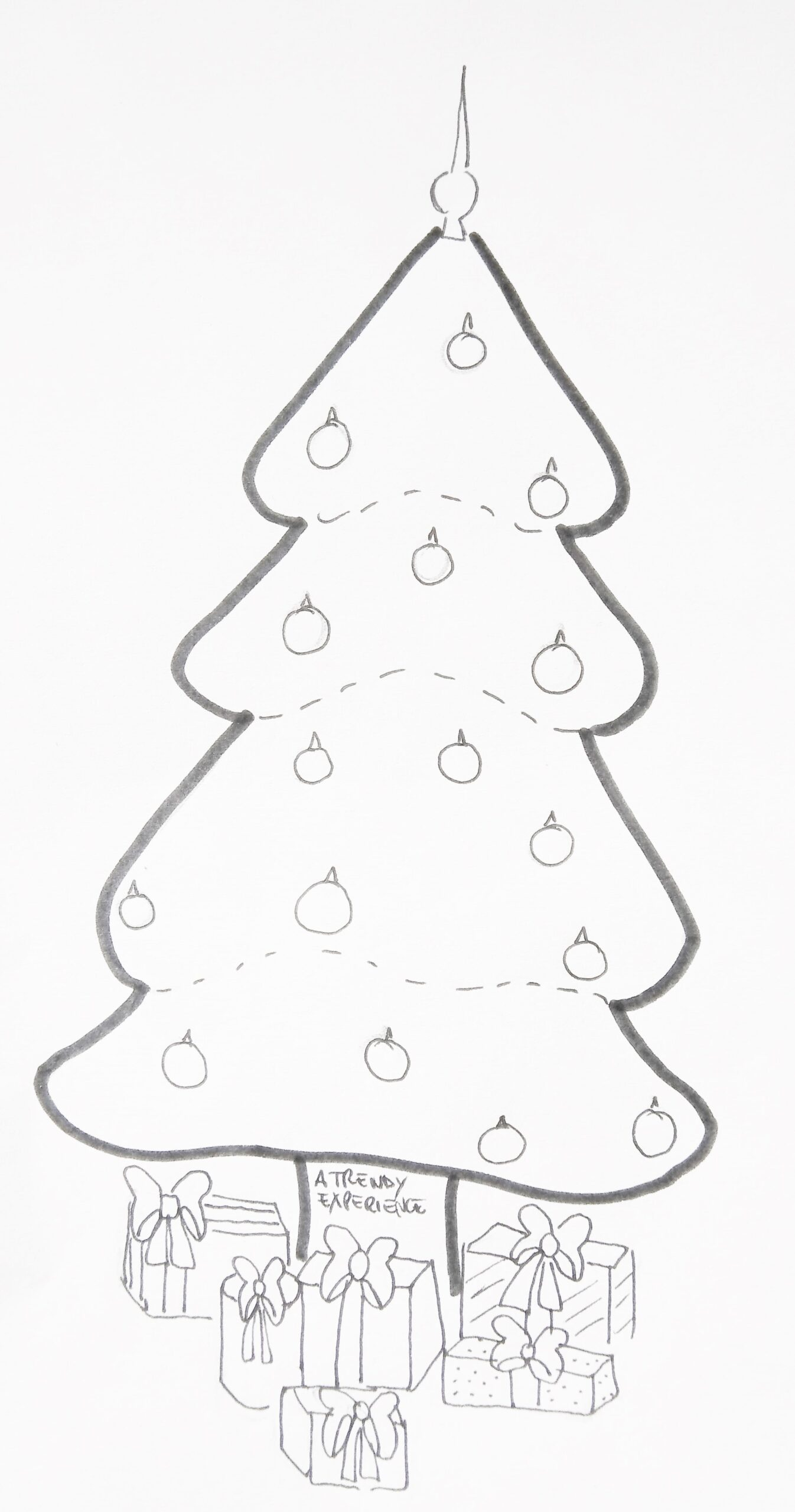 disegni alberi di natale da stampare e colorare