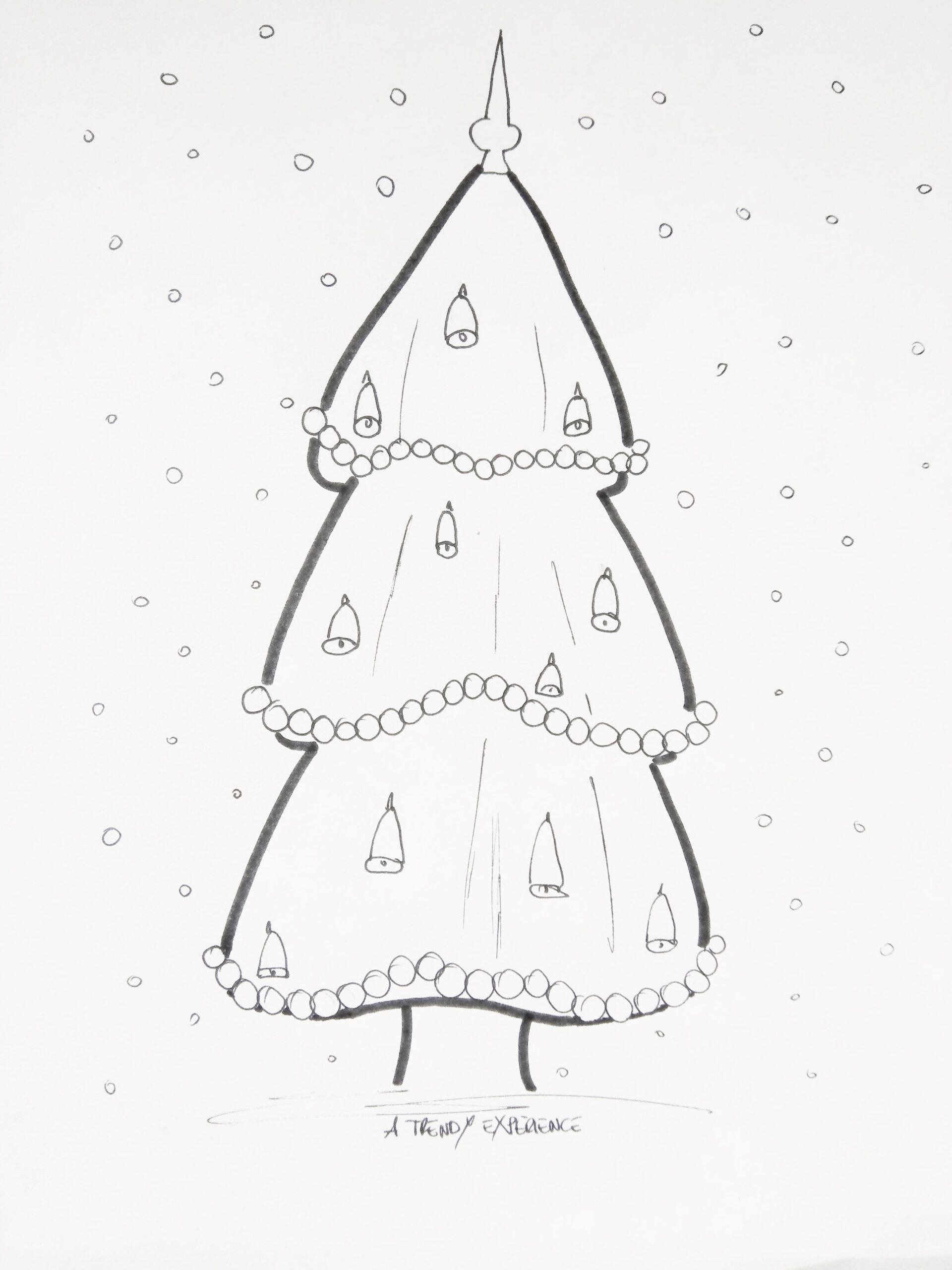 disegni albero di natale da stampare e colorare