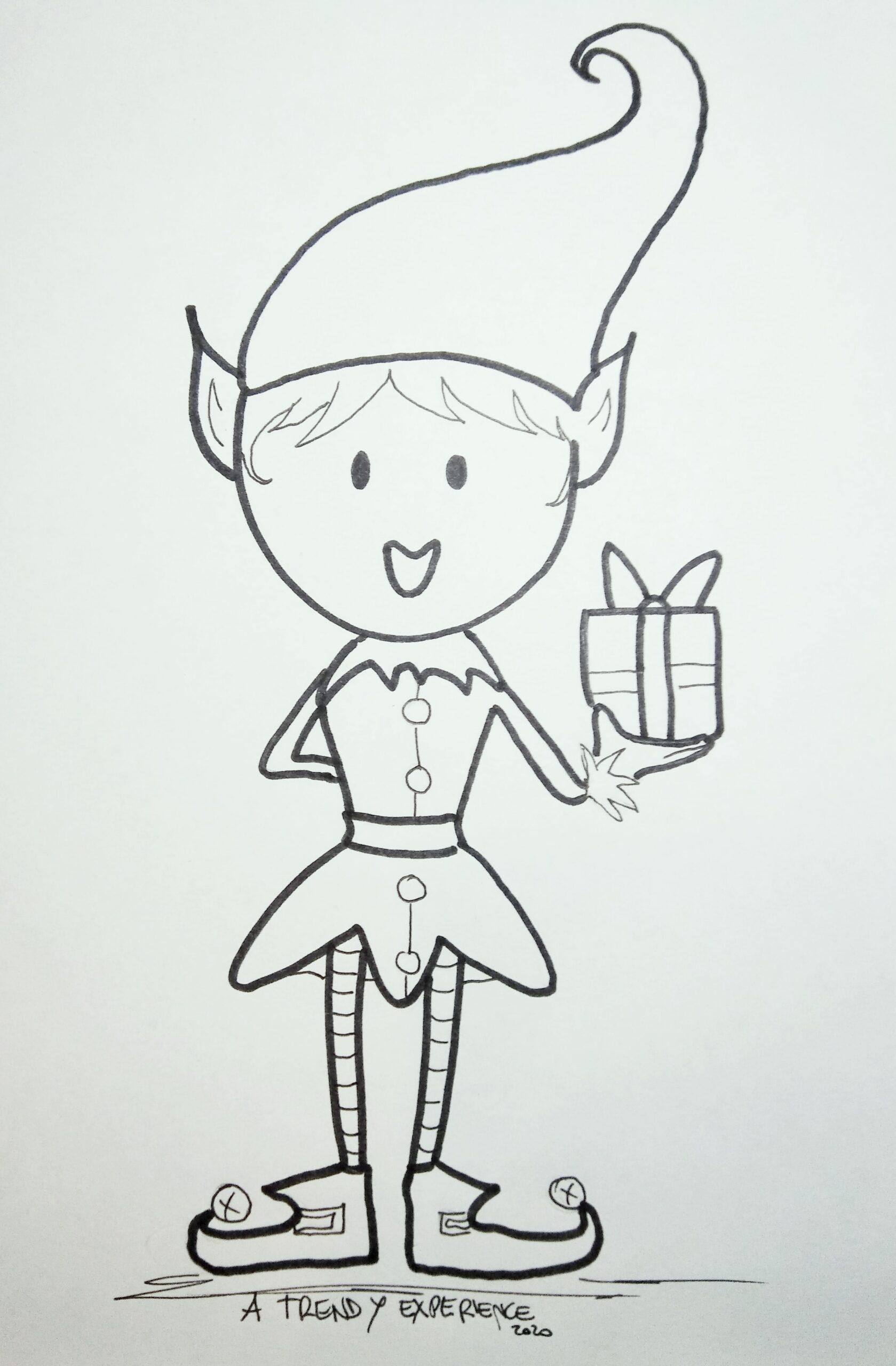 elfi natalizi disegni da colorare