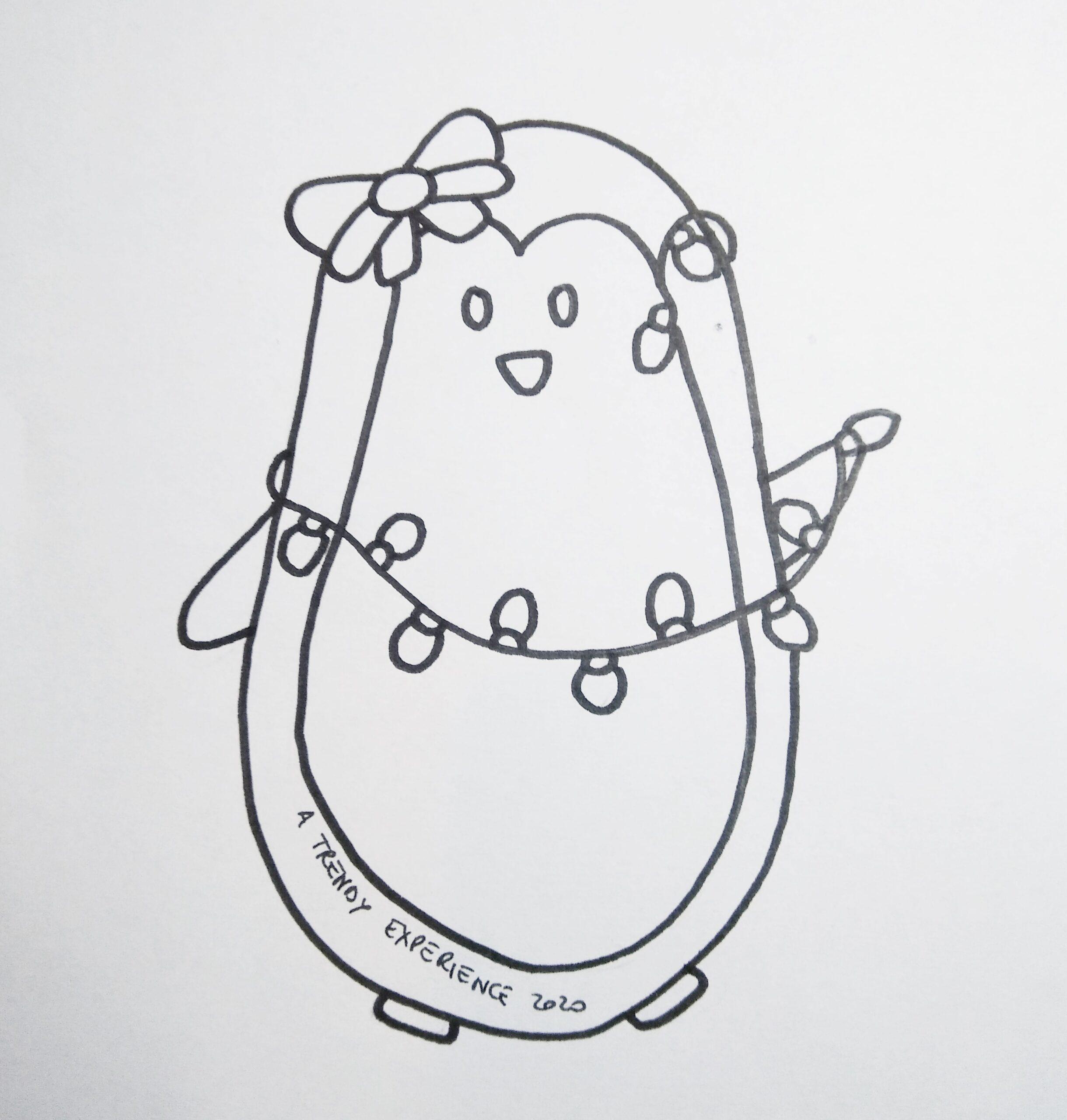 pinguini natalizi disegni di natale da stampare e colorare