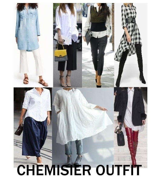 chemisier outfit camicia lunga
