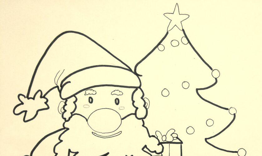 disegni di natale babbo natale da stampare da colorare