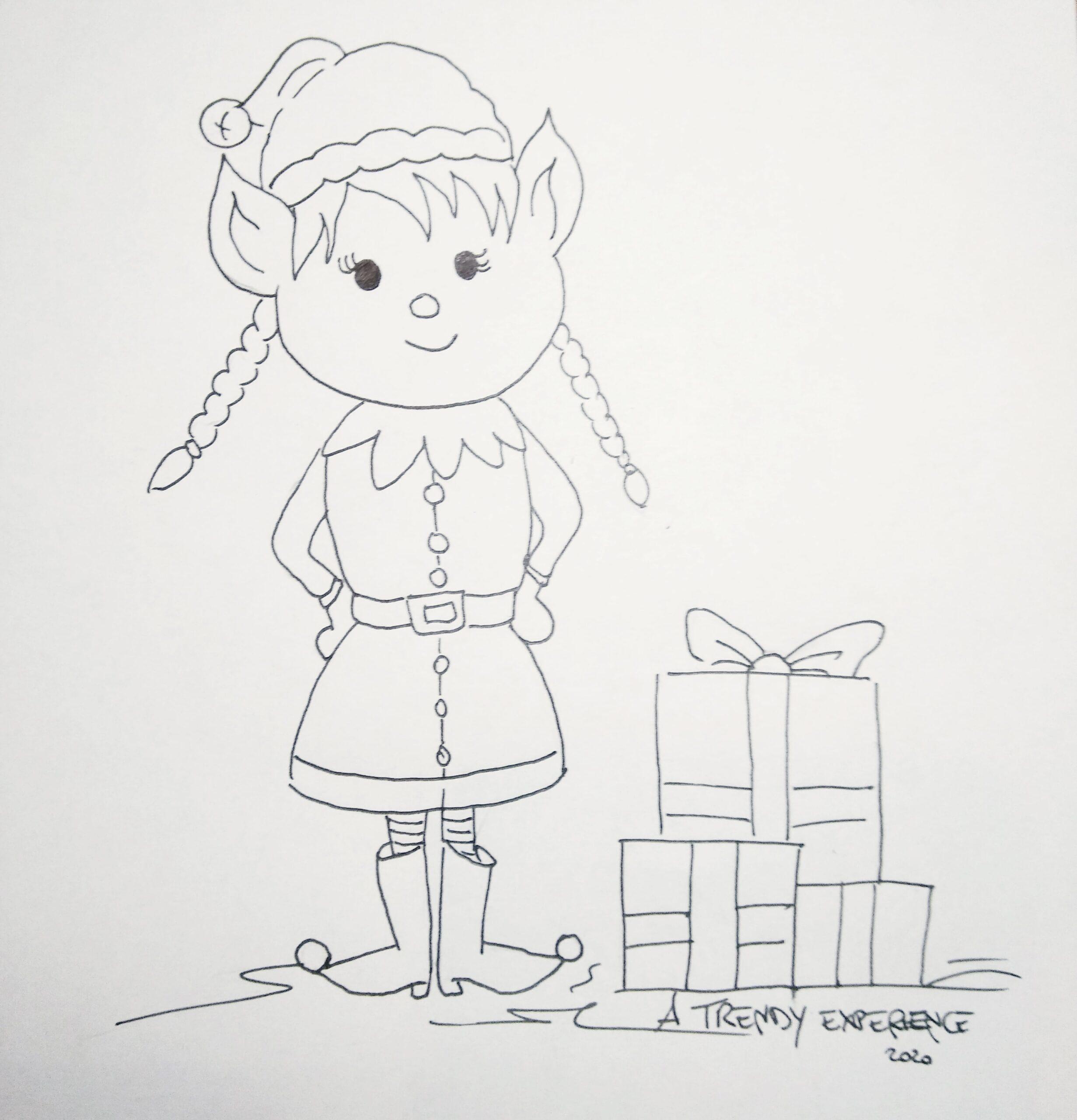 elfi natalizi da colorare