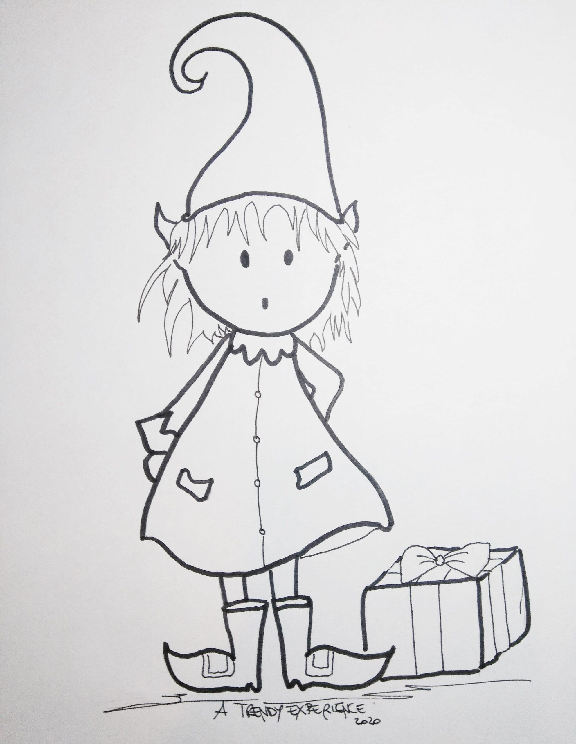 elfi natalizi disegni di natale