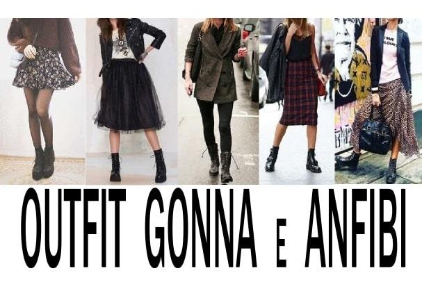 outfit gonna e anfibi più belli del web