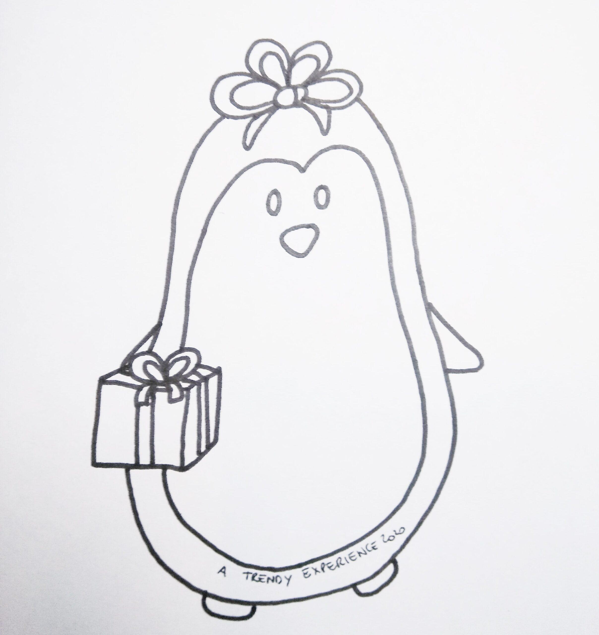 pinguini di natale disegni di natale da stampare e colorare gratis