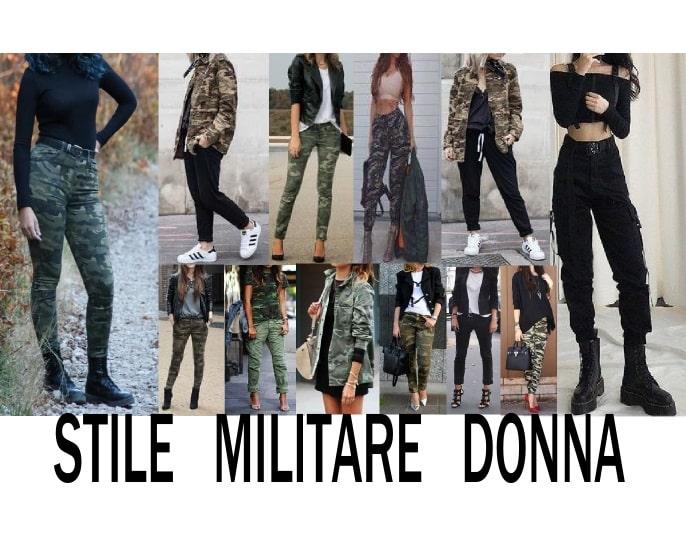 tutti gli outfit stile militare donna