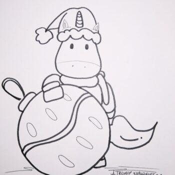unicorni natalizi disegni di natale da stampare e colorare