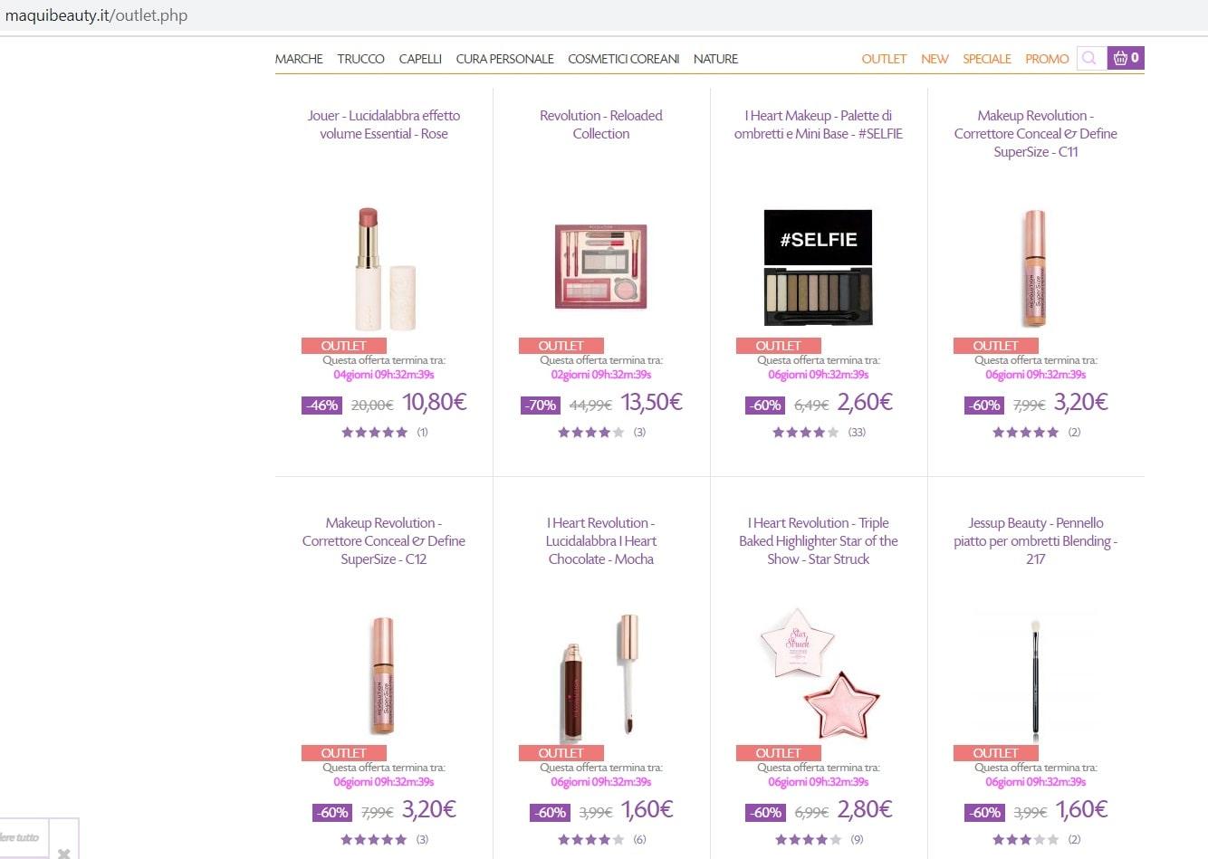 maquibeauty offerte online