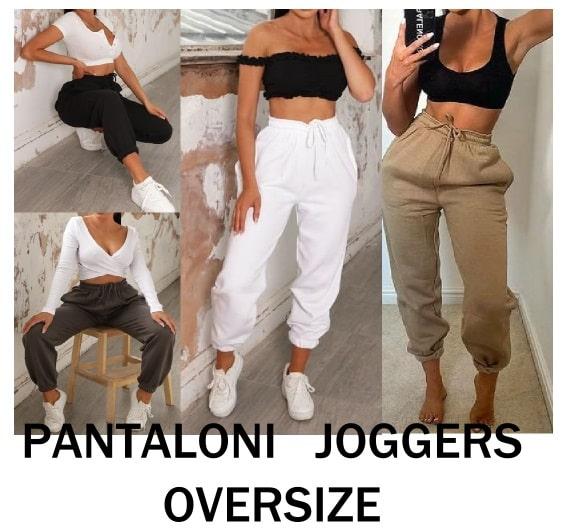 outfit pantaloni joggers oversize