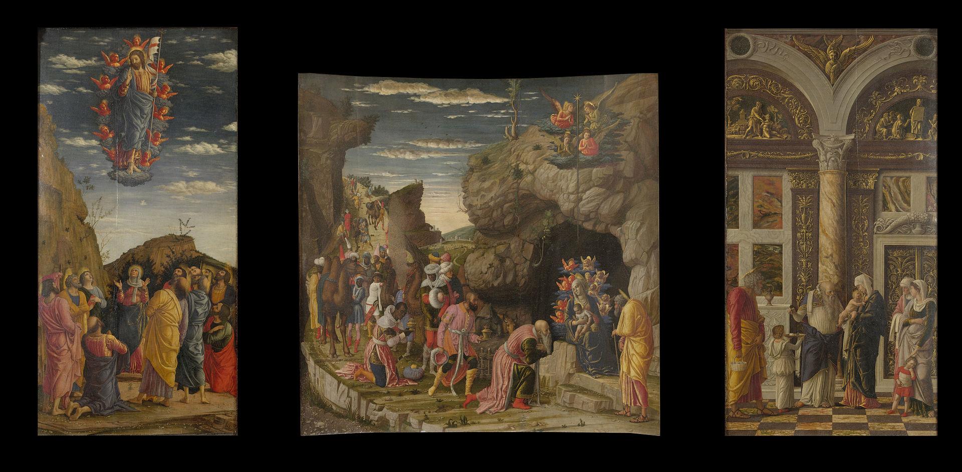 leggenda dei re magi trittico andrea mantegna