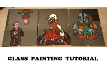 tutorial glass painting per disegnare su vetro