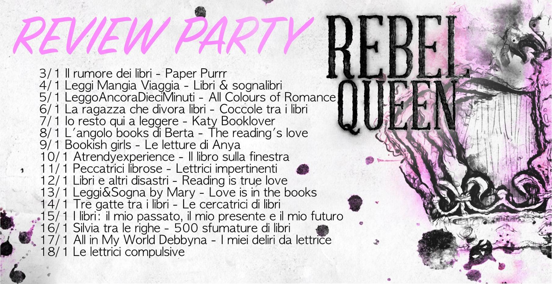 review party banner rebel queen