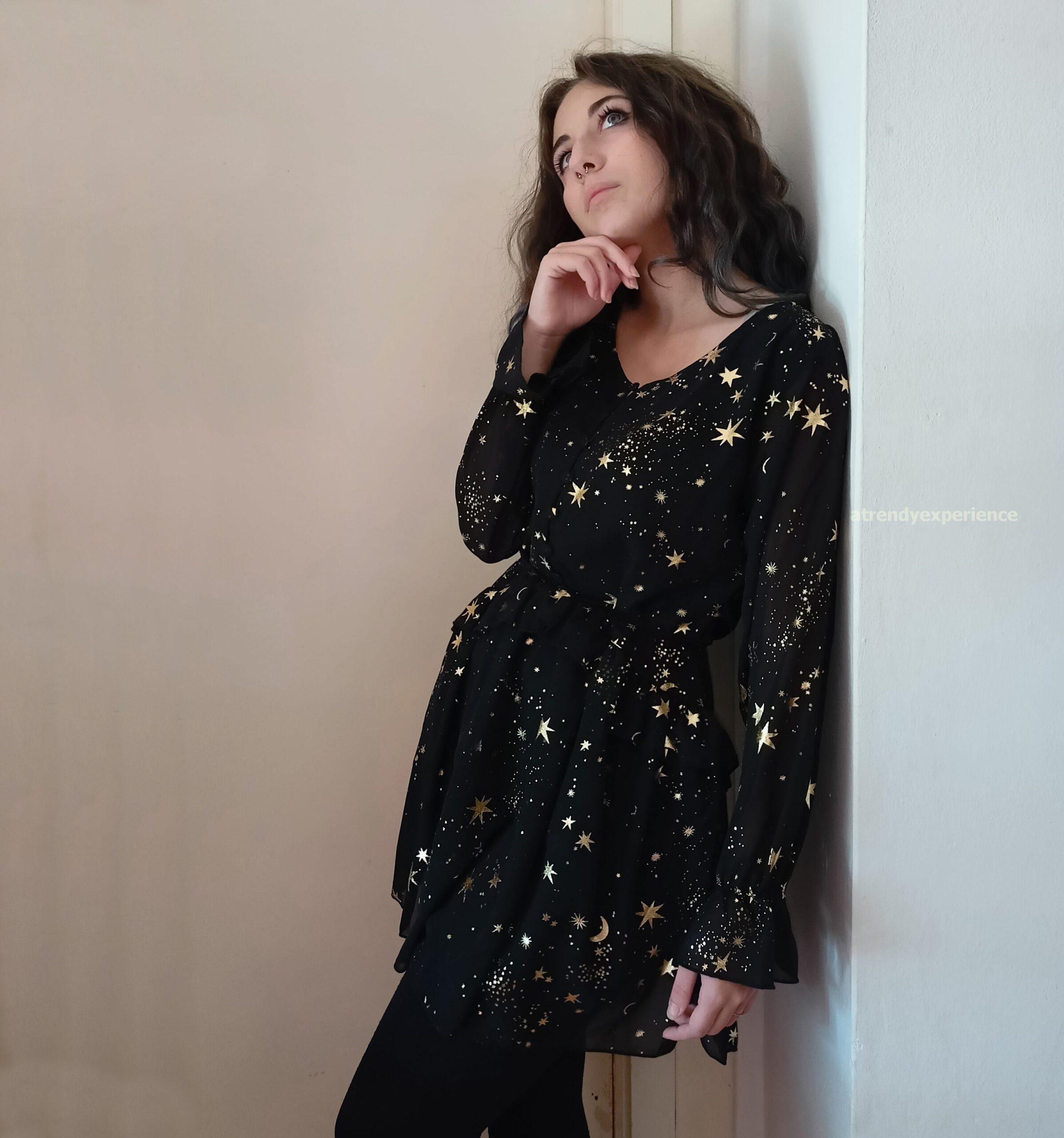 look da sognatrice romantica abito nero shewin