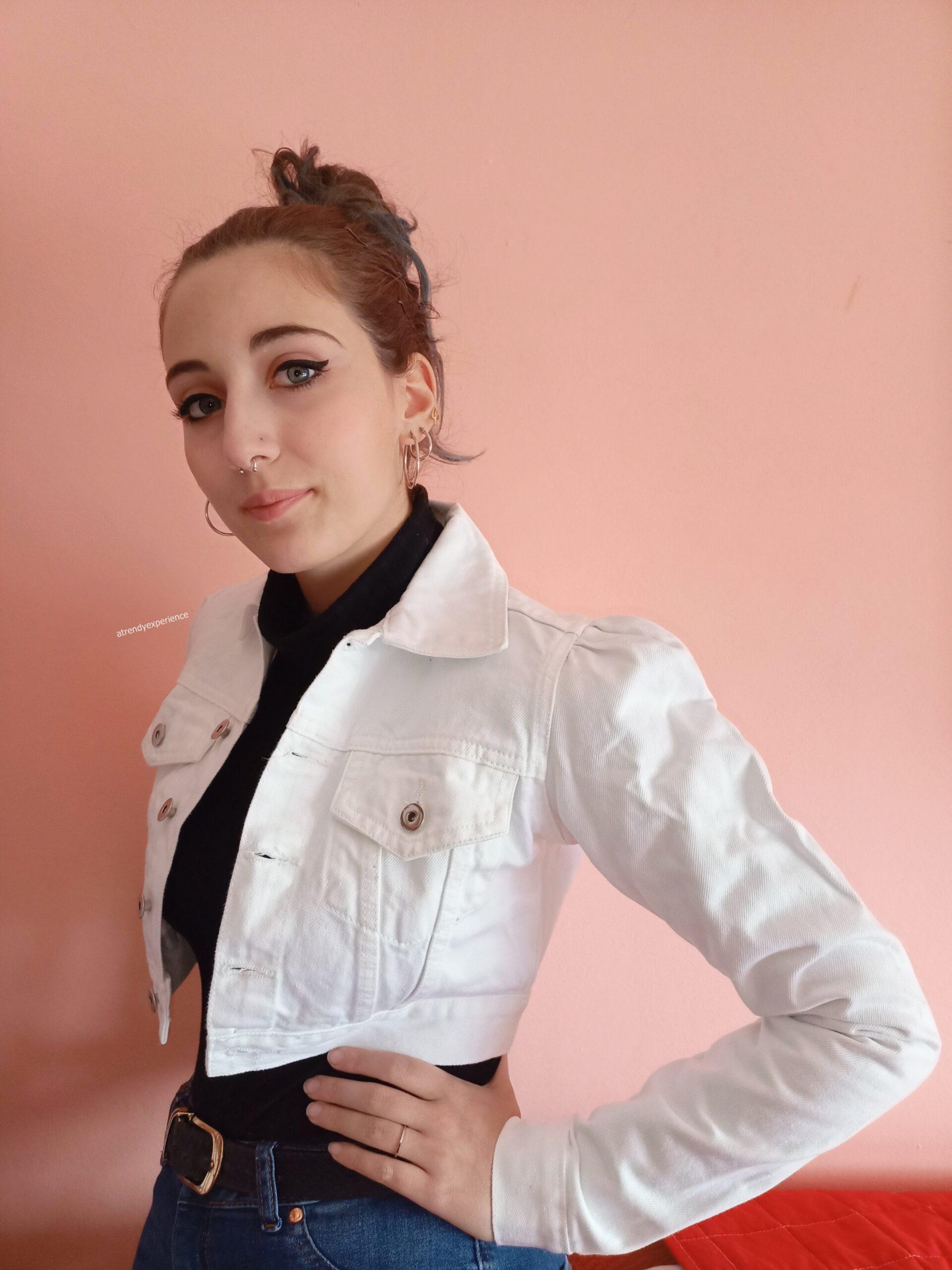 giacca denim bianca tendenza moda giacche primavera estate 2021