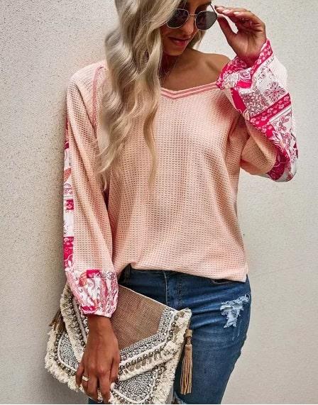 look romantico blusa rosa