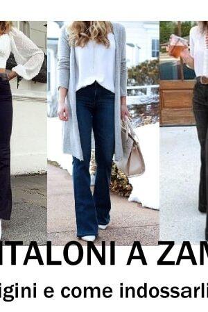 storia pantaloni a zampa