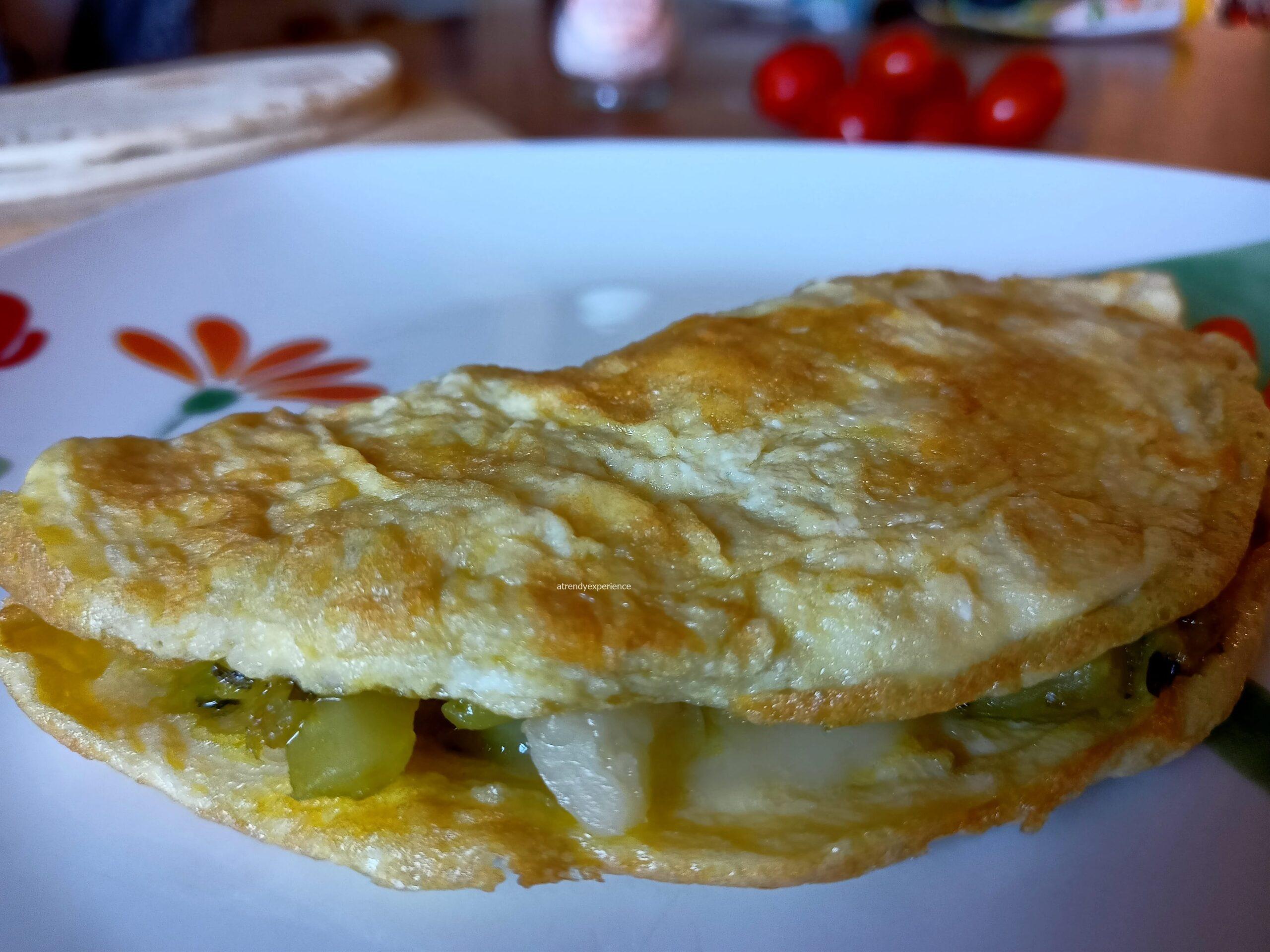 omelette con finocchi e provola