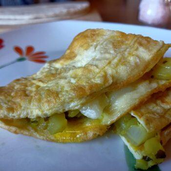 omelette finocchi e provola ricetta