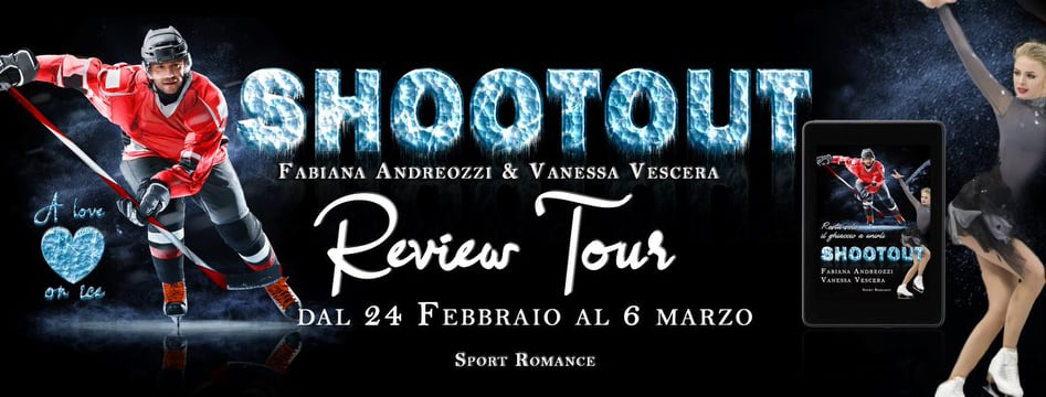 Shootout A Love On Ice Di Fabiana Andreozzi E Vanessa Vescera Review party banner