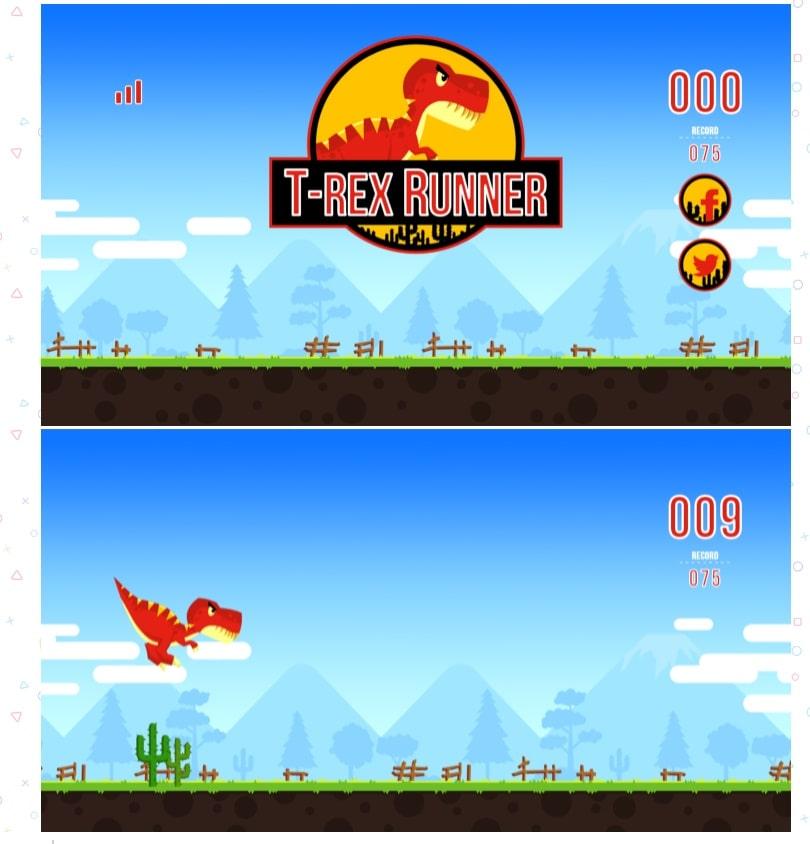 videogiochi online gratuiti: t-rex runner
