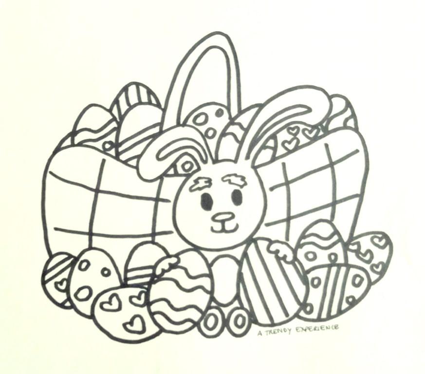 nuovo coniglietto pasquale da colorare e stampare