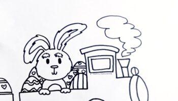 coniglietto pasquale da colorare e stampare