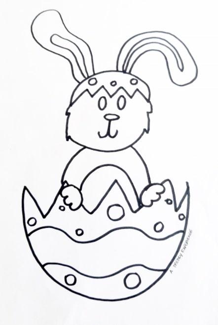 uovo di pasqua e coniglietto pasquale da colorare e stampare