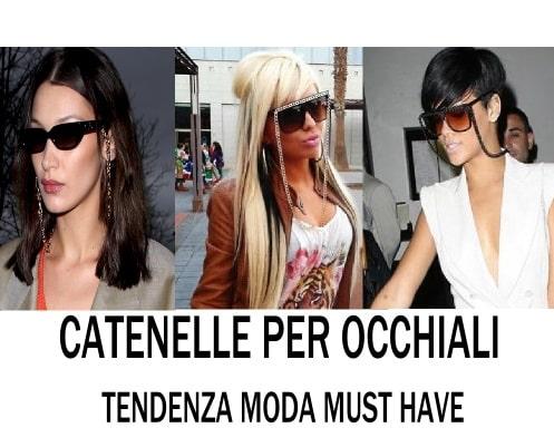 cordini e catene per occhiali must have di tendenza