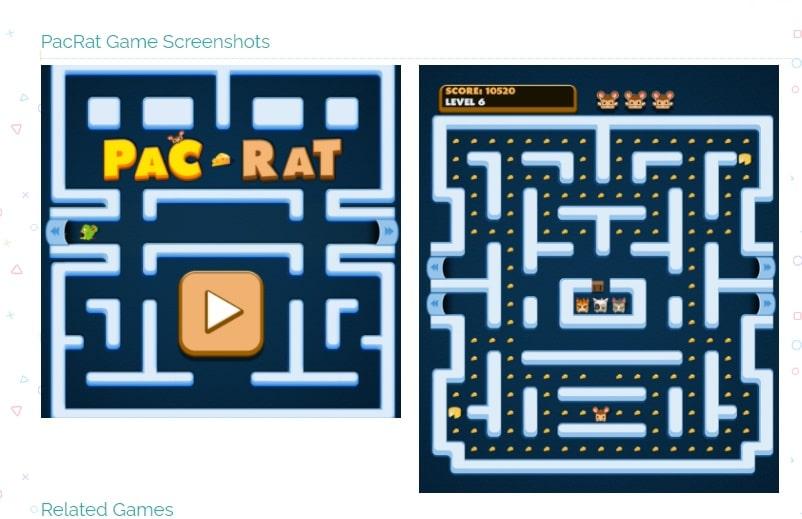 videogiochi gratuiti online: pac-rat game