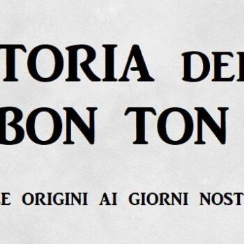 storia del bon ton