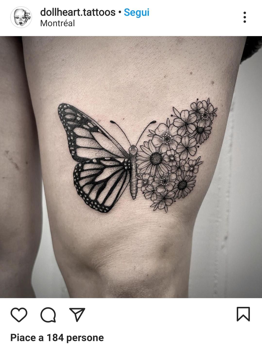 Idee tatuaggio coscia femminile