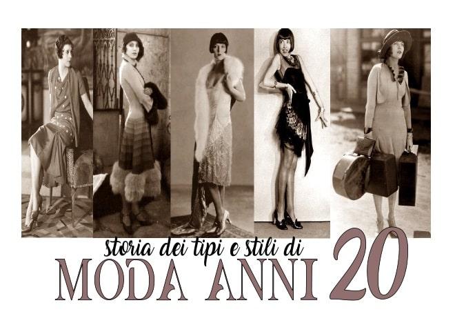 storia dei tipi e stili di moda anni 20 donna e uomo