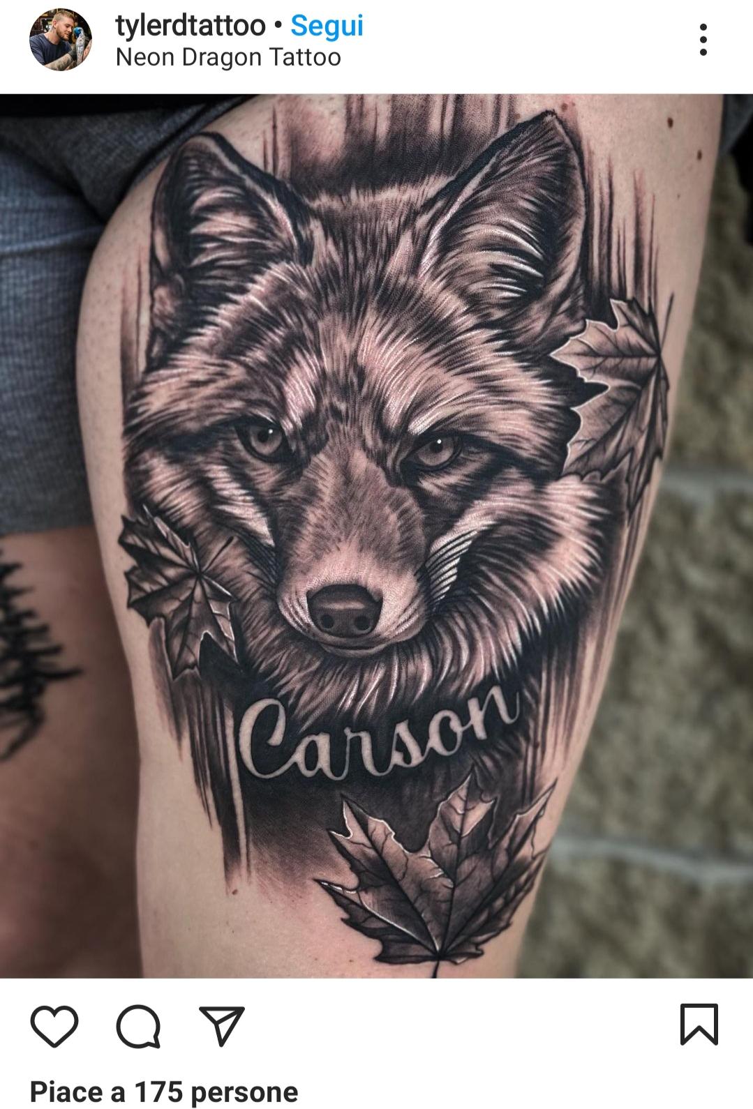 Idee tatuaggio coscia maschile