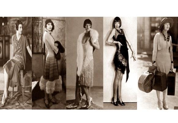 storia dei tipi e stili di moda anni 20