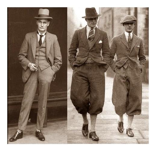 I nuovi tessuti maschili anni venti