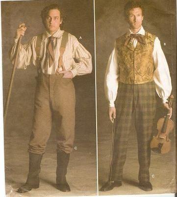 moda uomo 1800 e gli abiti da mestiere