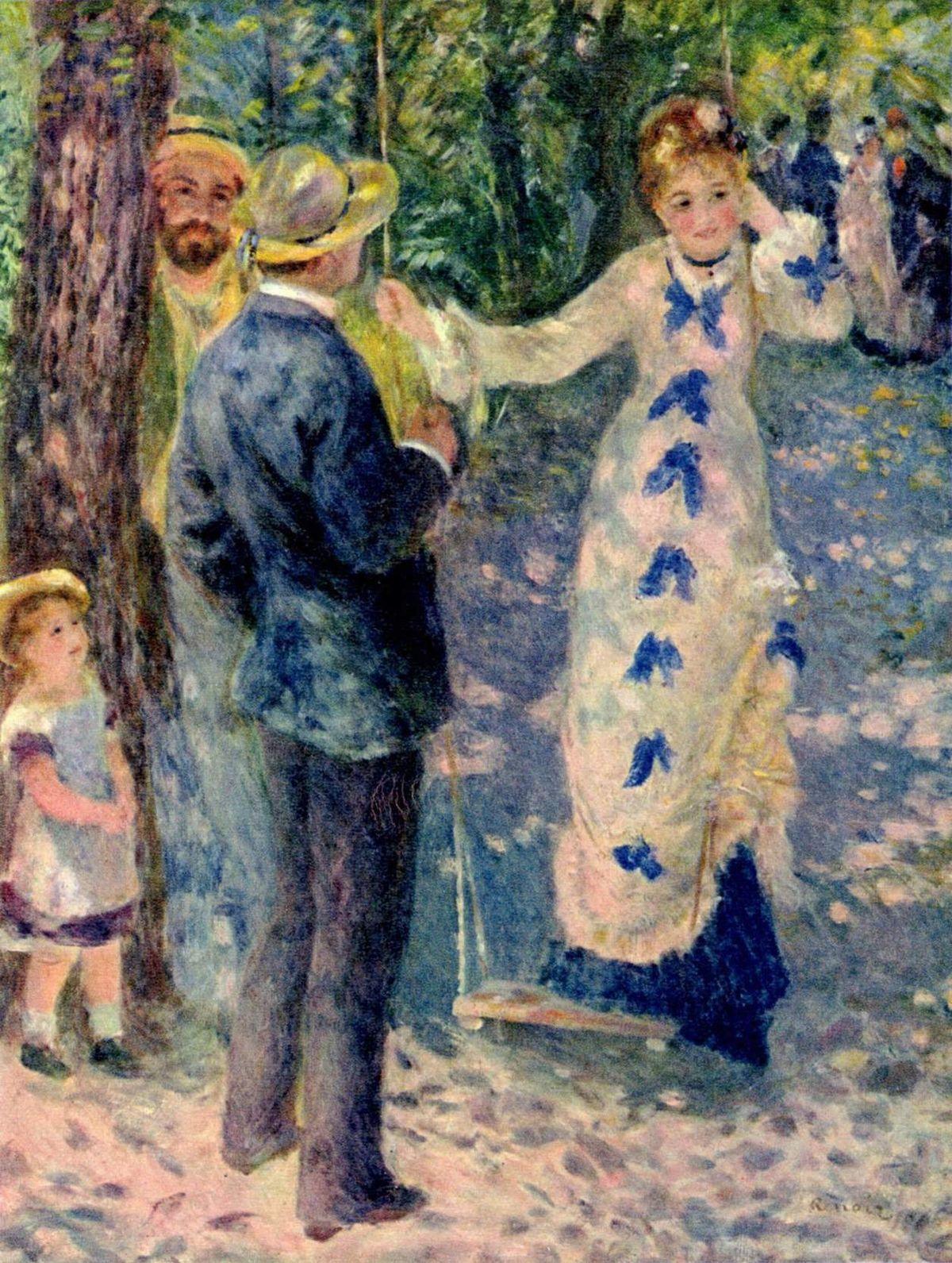 Renoir - l'Altalena - moda francese 1800