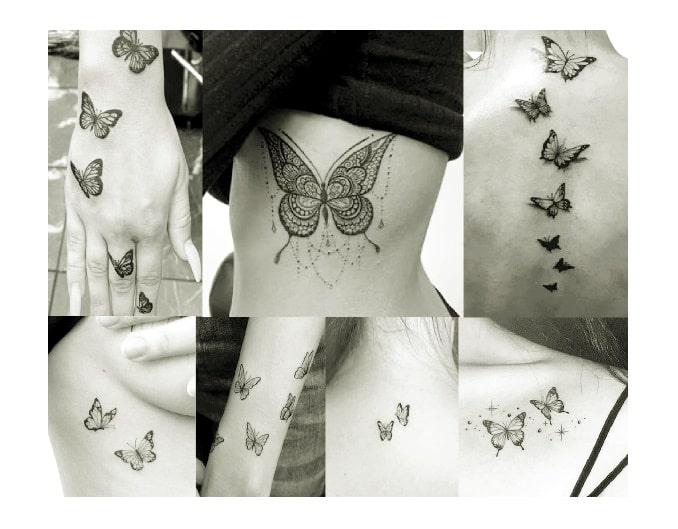 dove e come fare il tatuaggio farfalla