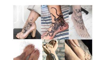 idee tatuaggio piede e caviglia per donna e uomo, significato e consigli