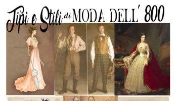 tipi e stili di moda del 1800 nel mondo